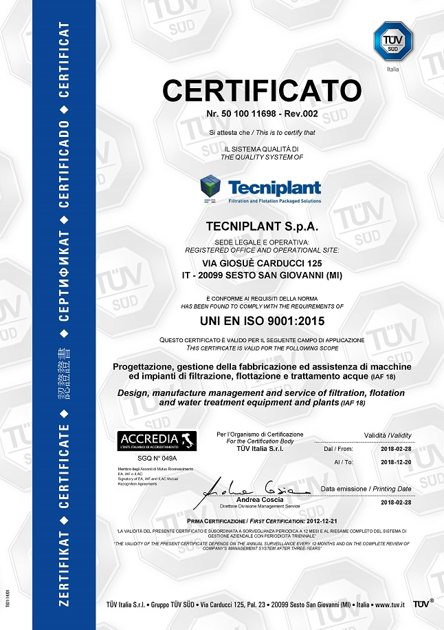 Certificate ISO 9001-2015 per website grande